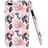 GopeE IPhone 7 Plus Case,iPhone 8 Plus Case, Marble Design Clear Bumper TPU Soft Case Rubber Silicone Skin Cover For IPhone 7 Plus (2016)/iPhone 8 Plus (2017) - B07H1DFLTN