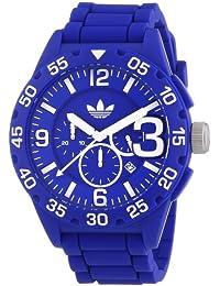 adidas  Newburgh - Reloj de cuarzo para hombre, con correa de silicona, color azul