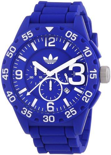 adidas-Newburgh-Reloj-de-cuarzo-para-hombre-con-correa-de-silicona-color-azul