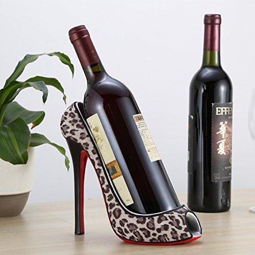 TY&WJ High heel Wine bottle holder Kreative Dekoration] Wine regal Bar pub Restaurant Dekorative Robust Stabil Senior Wein-rack-B (Heel High Heels Bambus)