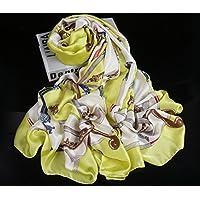 TSLX-Otoño Invierno Bufanda Bufandas para Utilizar Dos para mantenerlo Caliente 180X90,luz Verde
