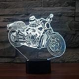 Motor Shape Tischleuchte Remo Touch Nachtlicht 7 Farbwechsel Motorräder Schlaflampen Licht USB 3D LED Lampe