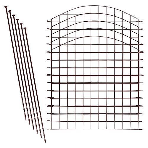 Teichzaun Set / Komplettsett in versch Verpackungseinheiten und versch Formen, grün (10x Oberbogen, Braun)