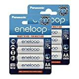 Panasonc Eneloop AA BK-3MCCE Akkubatterie vorgeladen, sehr geringe Entladung LSD Akkubatterie 2100 Zyklen, 8er Pack