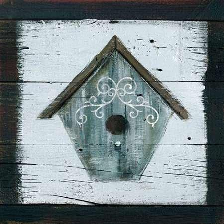 Feelingathome-STAMPA-ARTISTICA_x_cornice-Stained-Birdhouse-cm54x54-arredo-POSTER-fineart