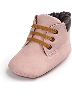 IMJONO Baby Mädchen Jungen Lauflernschuhe Neugeborene Schuhe Sneaker Leder