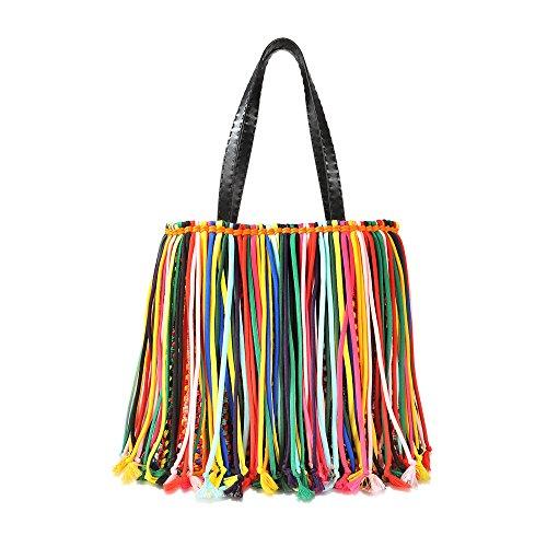bunter Shopper mit Fransen (Pucci Handtaschen Emilio Damen)