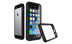 iPhone 5 / 5s / SE Bumper Case [CrashGuard By RhinoShield] | Shock Absorbent Slim Design Protective Cover [3.5 Meter / 11 feet Drop Protection] Apple - Black
