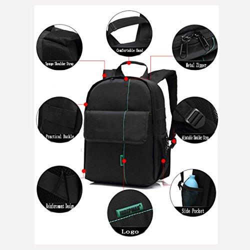 Kompakte Kamera Rucksack große Kapazität Raum wasserdicht Anti-Scratch Digitalkamera Tasche mit abnehmbaren Schwamm-Partitionen Foto Tasche Fotografie Rucksack H34 x L25 x T15 cm Orange