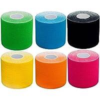 6x Mixpackung Kinesiologie Tape elastisches Klebeband 5mx5cm in verschiedenen Farben , hautfreundlich & langlebig... preisvergleich bei billige-tabletten.eu