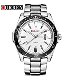 Curren Men Sports Analog Display Date Male Casual Waterproof Quartz Watch/A