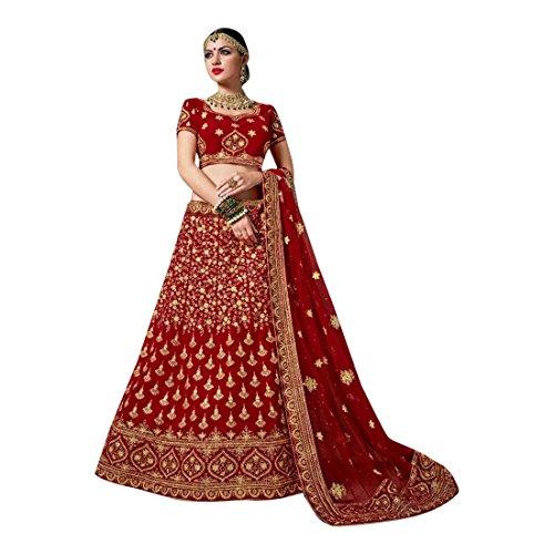 Red Wedding Bridal Lehenga Choli Indian Heavy Dress Maßanfertigung Zeremonie Ethnischen Partei Tragen Trendige Anzug Frauen Designer Kleid Zeremonie Kleid Party Tragen Indische Hochzeit Braut 2772