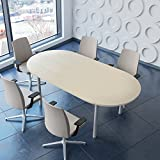 Weber Büro PROFI Besprechungstisch 200x100 cm OPTIMA 4-6 Pers. Konferenztisch Meetingtisch