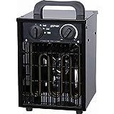 Zephir ZFH30C Exterior Negro 3000W Calentador eléctrico de ventilador - Calefactor (Calentador eléctrico de ventilador, Exterior, Piso, Negro, 3000 W)