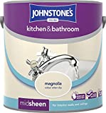 Johnstone's 303959 2.5 Litre Kitchen and Bathroom Emulsion Paint - Magnolia