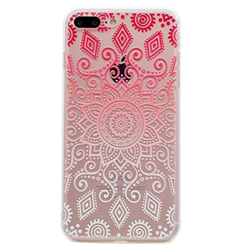 iPhone 7 Plus Coque, Voguecase TPU avec Absorption de Choc, Etui Silicone Souple Transparent, Légère / Ajustement Parfait Coque Shell Housse Cover pour Apple iPhone 7 Plus 5.5 (motif de couleur)+ Grat motif de couleur