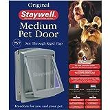 Staywell 755 M Haustier-Tür für Katzen und Hunde, abschließbar, grau