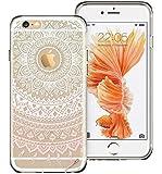 VPOWER® iPhone 6 / 6S ( 4.7 Zoll ) weiche TPU Silikon Hülle Case Cover Schutzhülle transparent mit Motiv [ Panana ] + Panzerglas Panzerfolie