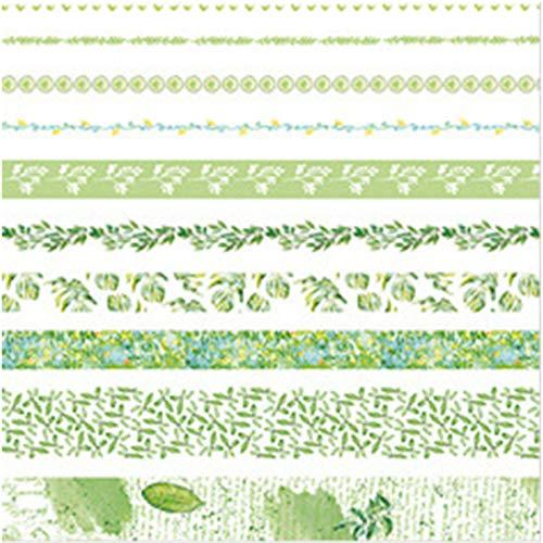 MINI CUTE 10 Rollen Washi Tape Set - 10mm breit, Bunte Ocean Style Design, dekorative Masking Tape für DIY Craft Scrapbooking Geschenkpapier