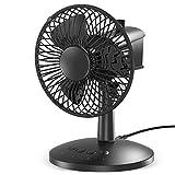 VersionTECH. Mini Ventilateur de Table, Ventilateur Rechargable Personnel avec 3 Vitesses Réglables, Fan Puissant et Silencieux pour Le Bureau, La Maison, La Voiture, Le Dortoir – Noir