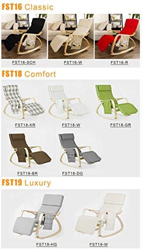 Stillstuhl SoBuy mit Tasche und verstellbarem Fußteil in beige - 4