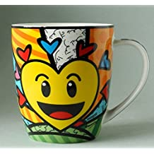 BRITTO Porzellanbecher - Emoji Herz - Pop Art Kunst aus Miami #334435