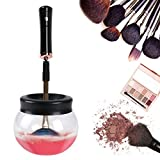 Limpiador de brochas electrico de maquillaje Wokaar,rápidamente seca pinceles de maquillaje en 5 segundos , multi-size maquillaje cepillos limpieza profunda de máquina 360 grados rotación con 8 anillas de goma diferentes tamaños