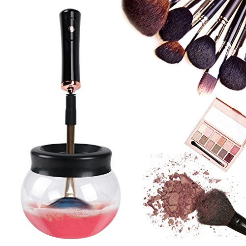 Limpiador de brochas electrico de maquillaje Wokaar,rápidamente seca...