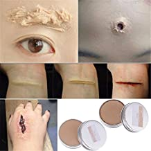HuaYang Halloween scène Déguisements Faux Scar Wound peau Cire Visage Corps Maquillage de peinture 30g - Peau légère