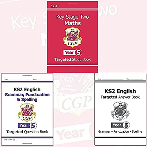 KS2 Year 5 English and Maths 3 Book Bundle Collection with Gift Journal - Targeted Study Book, Targeted Question Book: Grammar, Punctuation &