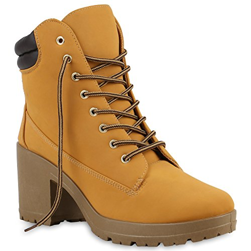 Trabalho Botas Senhoras Ankle Boots Ao Ar Livre Perfil Único Planalto Castanho Claro