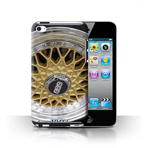 Stuff4 Hülle / Case für Apple iPhone 7 Plus / Silber/Rot Muster / Leichtmetallfelgen Kollektion Gold/Chrom