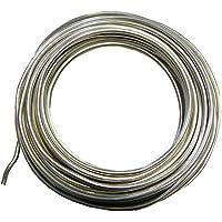 5m KUPFERDRAHT 0,6mm Silber Lackdraht Basteldraht SCHMUCKDRAHT DRAHT BEST C257