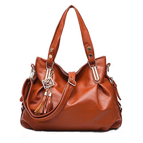 Baymate Ms. klassische Handtaschen beiläufige Art und Weise weiche Tasche Kuriertasche Frau tragbare Umhängetasche Brown