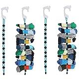Goodbearn 4 Stück Socke Organizer, einfache Clips & Schlösser Paar Socken ohne Bindungen, Taschen oder Trennwände für Wäsche (Platz für 9 x 4 Paar Socken)