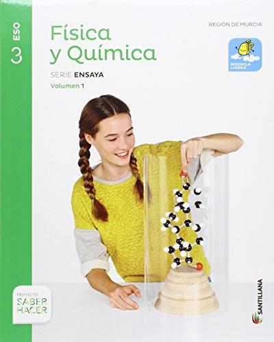 FÍSICA Y QUÍMICA MOCHILA LIGERA SERIE ENSAYA 3 ESO SABER HACER - 9788414102862 por Vv.Aa.