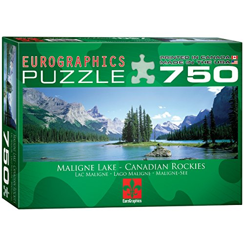 Euro Graphics Maligne Lake Jigsaw Puzzle 750 Piece Puzzle