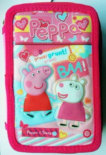 Peppa Pig Triple Case 3 BISAGRAS Suzy 44 Pieces Colors School