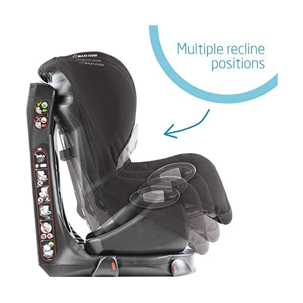 Maxi-Cosi Axiss Swiveling Toddler Car Seat, Extra Secure Fit, Reclining, 9 Months-4 Years, 9-18 kg, Triangle Black Maxi-Cosi Toddler car seat, suitable from 9 months to 4 years (9-18 kg) Swivels 90 degrees allows for front-on access to get your toddler in and out of the car more easily Maxi-Cosi Axiss car seat has eight comfortable recline positions 6