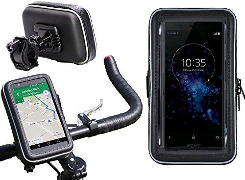Preisvergleich Produktbild Navitech Wasserfeste Fahrrad und Motorrad Halterung Montierung und Case für das Sony Xperia XZ1