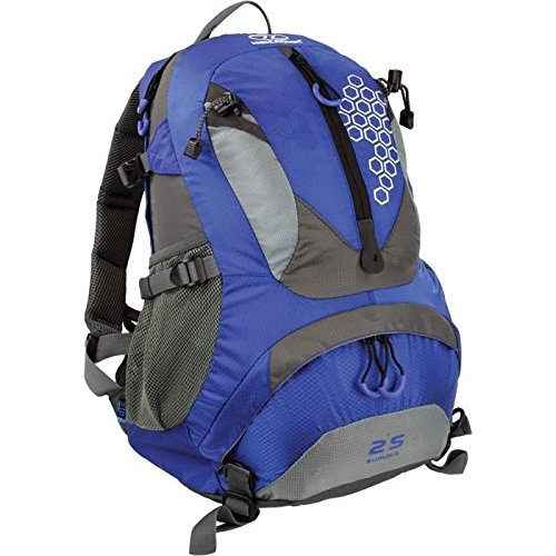 Highlander Mochila de Senderismo, Rucksack Summit 25, Blau, Azul/Gris, 25 L