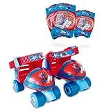 Darpeje OSPI019 Spiderman Kinder-Rollschuhe mit Schützern