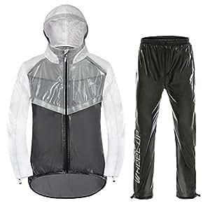 Fastar Bike Equitazione Impermeabile Set, Impermeabile Pioggia Giacca e Pantaloni per Le Donne Uomo Outdoor Bicicletta, Campeggio, Pesca