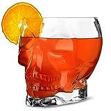 Tiki Schädel Glas 1.7 Ltr, Motiv Cocktail-Glas, ideal für hawaiianische Parteien