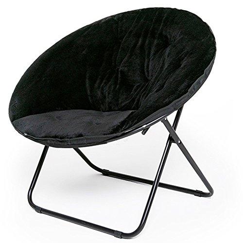 Balcon pliant chaise longue, canapé paresseux, chaise pliante en tissu, chaise papillon (Couleur : B)