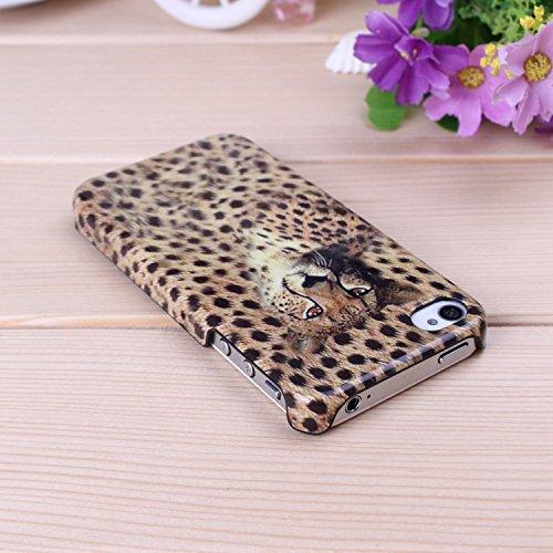 iPhone Case Cover IPhone 4S de couverture de cas, Leopard Couleur Patter dur Housse pour iPhone 4S ( Color : D ) D