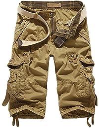 Mens Kingsize Cargo Shorts /& 3//4 Three Quarters Camouflage Print Pocket Summer