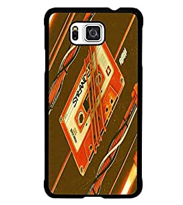 PrintDhaba Casette D-5503 Back Case Cover for SAMSUNG GALAXY ALPHA (Multi-Coloured)