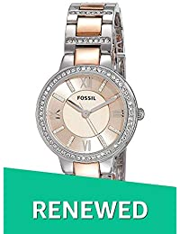 (Renewed) Fossil Virginia Analog Pink Dial Womens Watch - ES3405#CR