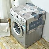 BEUWAY Waschmaschine Abdeckung Tuch - Baumwolle Staubdicht Abdeckungen Multi-Funktions-Kühlschrank Staubschutz 54.6 * 21.45inch (2)